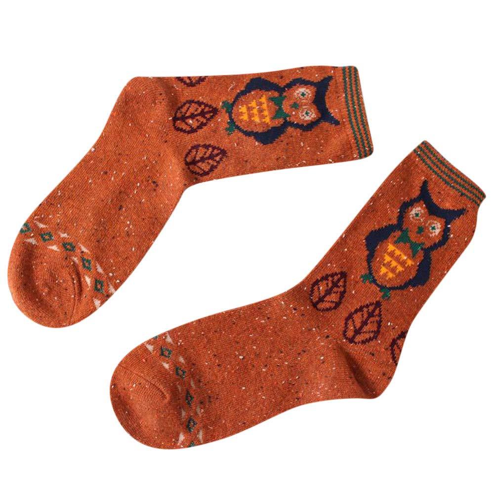 Ankle High Sheer Socks, Winter Warm Cartoon Animal Wool Socks Christmas Xmas Gift Fashion (Color 07)
