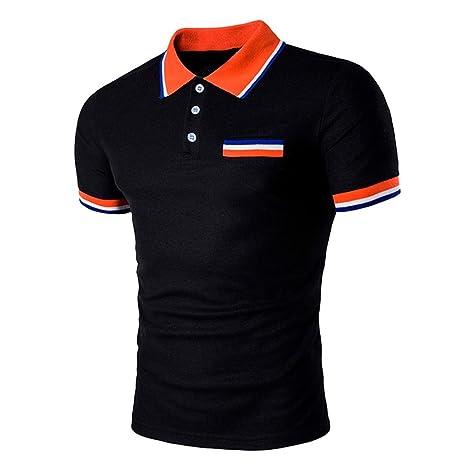 Camiseta y polos basica,Beikoard polos de Camiseta Diseño de manga corta botones media cardigans