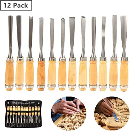 1 Set Stone Wood Carving Chisels Carbon Steel DIY Woodworking Sculpting Tools