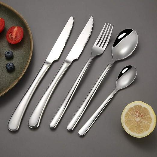 Set de Cubiertos de Mesa 40 Piezas, Juego de Cubiertos de Cuchara de Tenedor de Cuchillo de Acero Inoxidable para Restaurante, Hotel, Buffet, Viajes: Amazon.es: Hogar