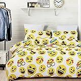 Emoji Bed Set Vaulia Lightweight Microfiber Duvet Cover Sets, Lovely Emoji Pattern Design, Queen Size