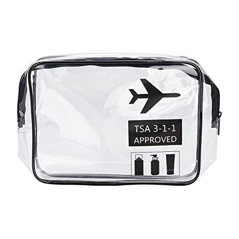 Amazon.com : 1 Pack Clear Toiletry Bag TSA Approved Travel ...