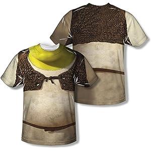 64d70d251 Amazon.com: Costume -- Shrek All-Over Front/Back Print Sports Fabric ...