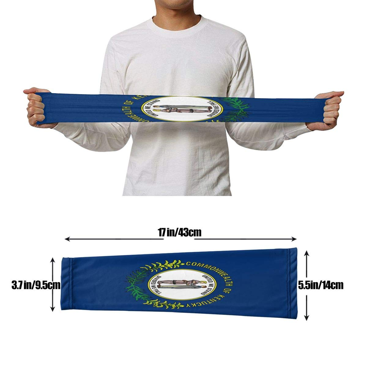 NKZSUX Men/&Women Arm Sleeves Kentucky State Flag Cooling Arm Sleeves Patterned Skin Cooler Protective