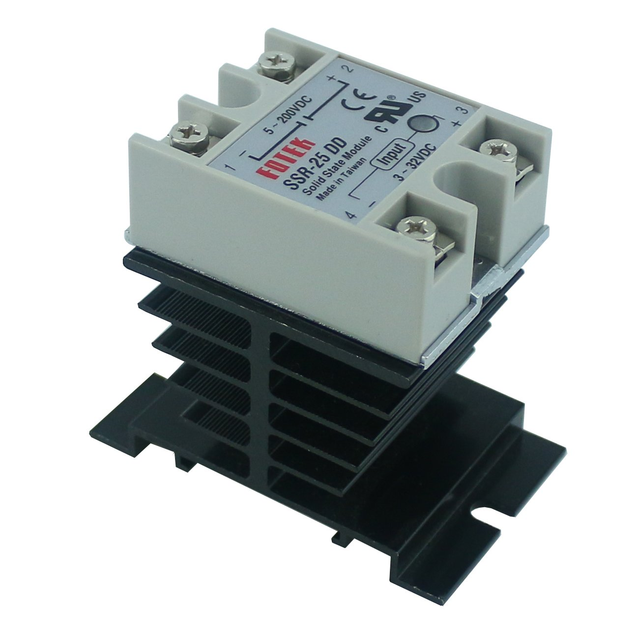 Spdt Solid State Relay 12v Ogrmar Ssr 40dd 40a Dc 3 32v 5 200v Heat Sink 40 Dd Grey And Black Home Improvement