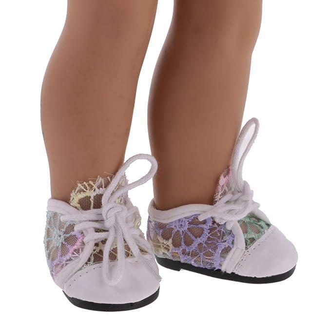 MagiDeal Scarpe Sneakers Lace up in Pizzo per 18 Policci Bambole della Ragazza Americana - Blu vOgqCr1Jd