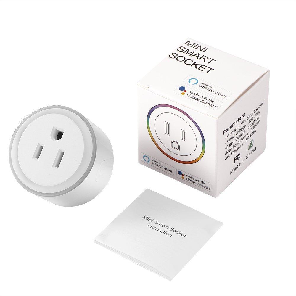 Alquar Wifi Smart Plug, Work With Alexa Google Home,with Ambient LED Night Light, Compatible With Voice Activated Devices Echo Dot Accessoires,Remote Mini Outlet Multi-function Socket Swtich by Alquar (Image #6)
