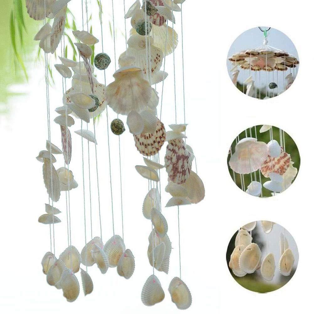Windspiele Mobile Muschel klar mit Perlen Glockenspiel Hausgarten Dekoration