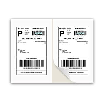 AmazonCom Packzon Shipping Labels With Self Adhesive Square