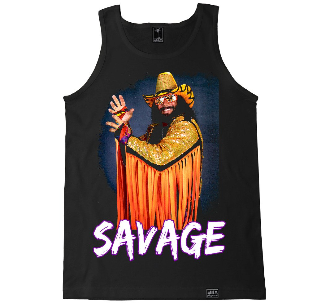 FTD Apparel Men's Savage Macho Man Tank Top - XL Black