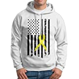 Boys Pancreatic Cancer Awareness USA Flag Patterns Print Athletic Pullover Tops Fashion Sweatshirts
