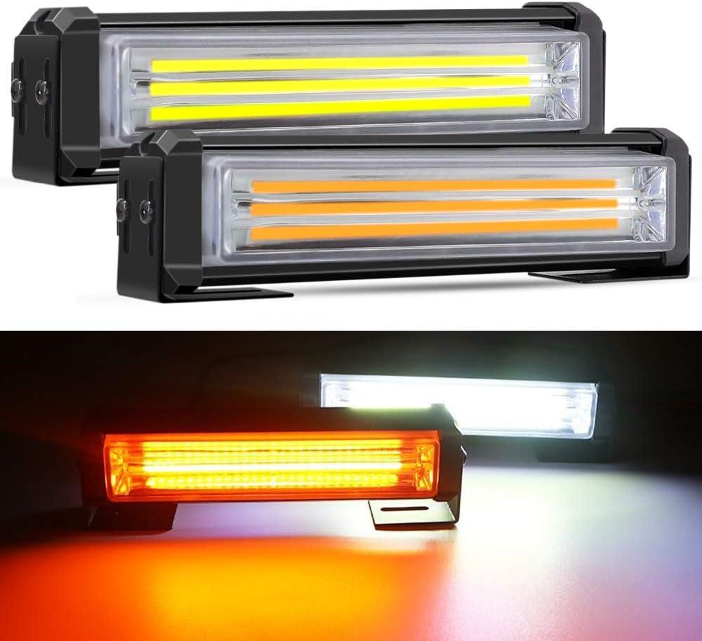 Mesllin White Amber Emergency LED Barra estroboscópica de luz 6