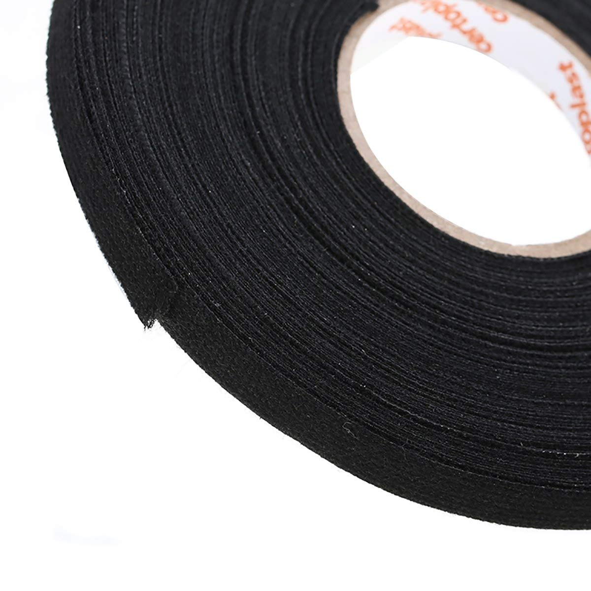 Sealers Waterproof Black Loom Wiring Harness Adhesive Cloth Fabric Tape Cable 25m 0 3mm Automotive Tapeline Measure Magnetic Recording Mag Videotape
