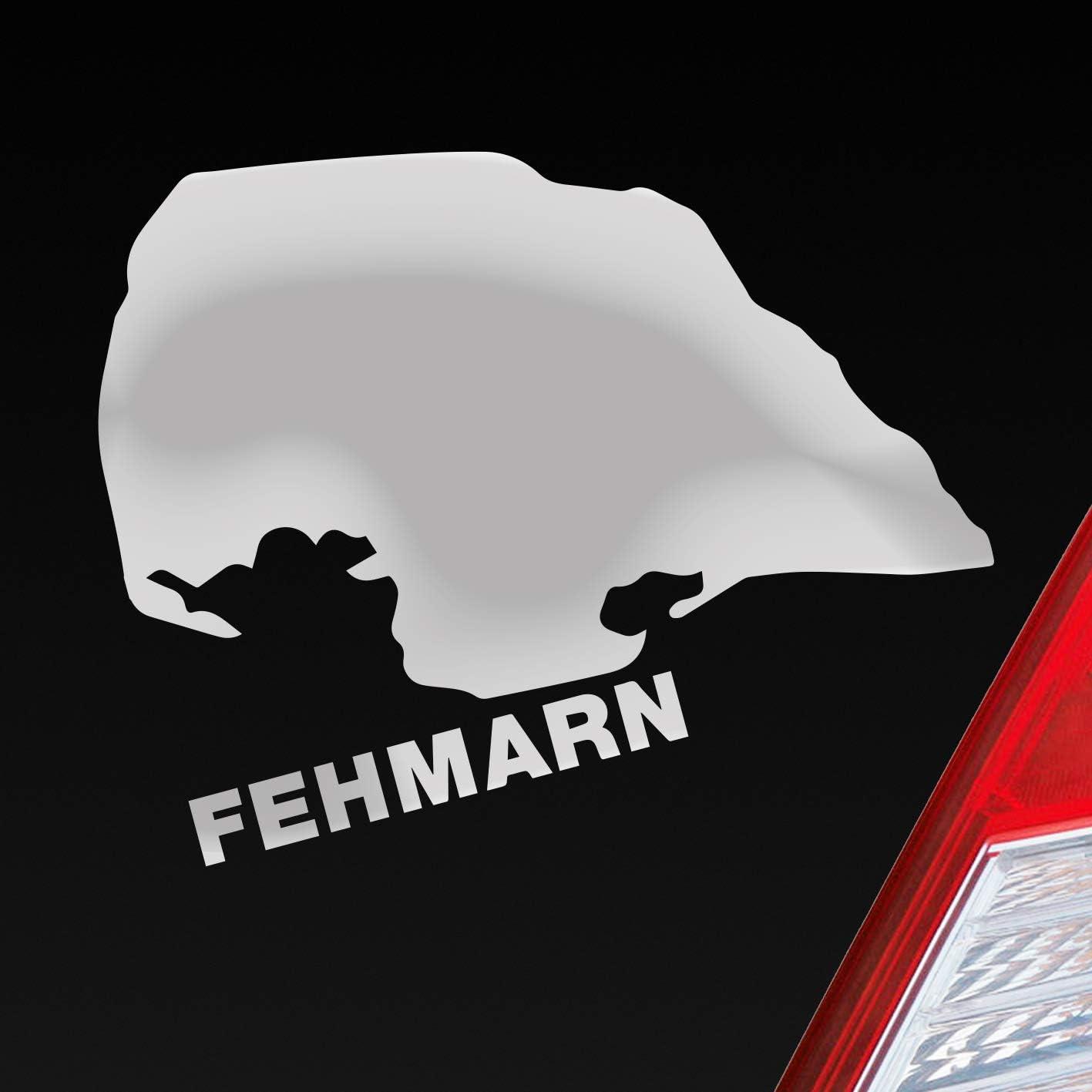 Autoaufkleber Aufkleber Fehmarnsundbrücke Fehmarn Farbe Rot