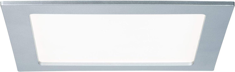 Paulmann Leuchten Paulmann 92066 Einbaupanel eckig Deckenleuchte 18W Licht 4000K Neutralwei/ß LED Panel Wei/ß IP44 spritzwassergesch/ützt inklusive Leuchtmittel Einbauleuchte 18 W Kunststoff