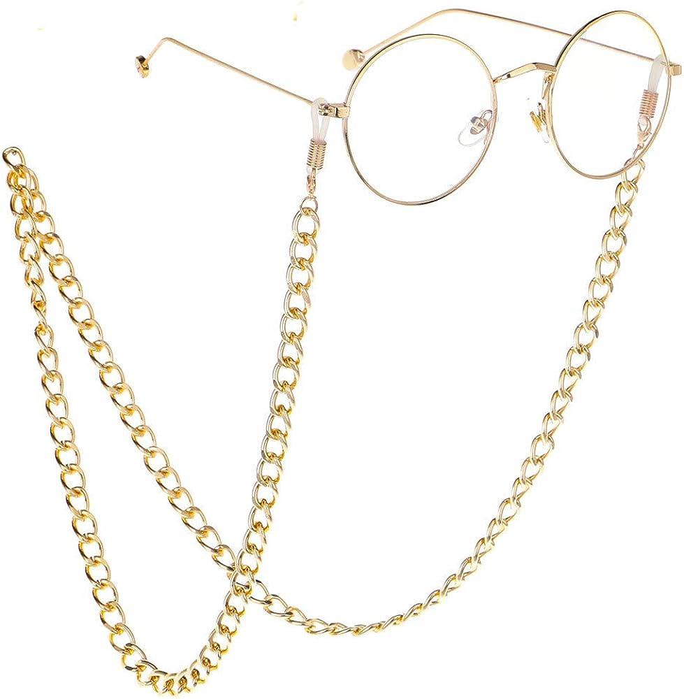 Catena spessa per occhiali da sole con cordino in metallo szxbogs
