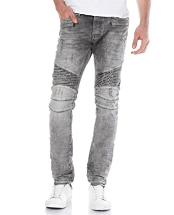 Redbridge Herren Biker Jeans Hose Ripped Röhrenjeans Slim Fit Skinny Jeanshose