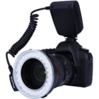Zorbes RF550D Macro LED Ring Flash with LCD Display for Canon Nikon DSLR Cameras