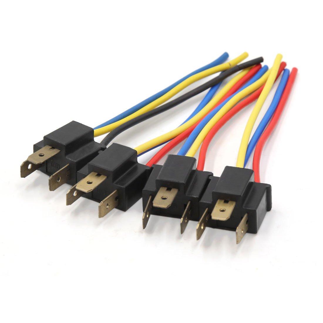 sourcingmap Coche Faro Antiniebla Conector H4 Adaptador Cableado Enchufe Macho a17022200ux0890