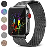 DaQin Bands Compatible with Apple Watch Band 42mm 44mm for Women and Men, Milanese Metal Magnetic Mesh Loop Wristbands for Apple iWatch Series 4 Series 3/2/1, Spacegray