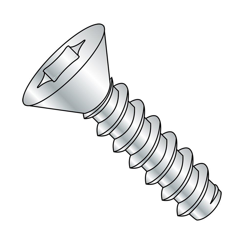 Steel Sheet Metal Screw Star Drive Type B Pan Head #2-32 Thread Size Pack of 100 1//2 Length Zinc Plated