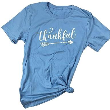 90dfe381859e6e Pxmoda Women s Casual Letters Printed T-Shirt Short Sleeves Faith Over Fear  Arrow Tee Tops