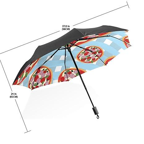 BAIHUISHOP 3 Folding with Chocolate Pattern UV Umbrella,Ultralight Folding Compact Sun/Rain Umbrella