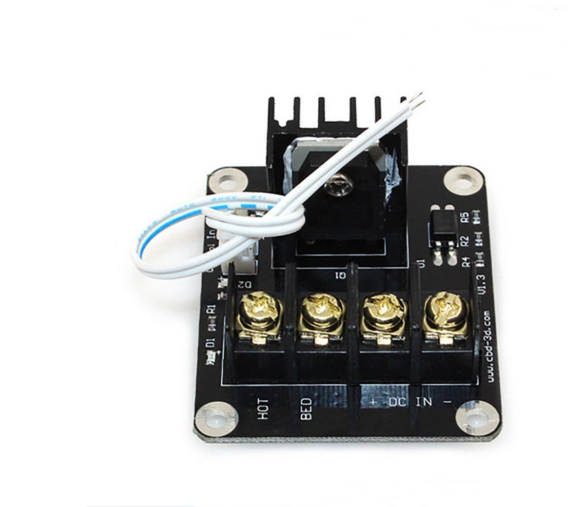 Tking MOS Tube Hochstrombelastungsmodul Hitzebett MOS Tube Hot Bed Power Module Erweiterung f/ür 3D Drucker Heizung Bett Zubeh/ör