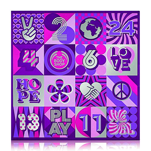 The Body Shop Festive Picks Selection Advent Calendar, 24pc Gift Set of Feel-Good, Cruelty-Free, 100% Vegetarian Skincare, Body Care and Makeup Treats