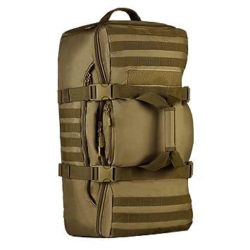 YuHan - Mochila táctica, 60 L, para senderismo, mochila militar con sistema modular de carga y transporte de equipamiento ligero (MOLLE), verde: Amazon.es: ...