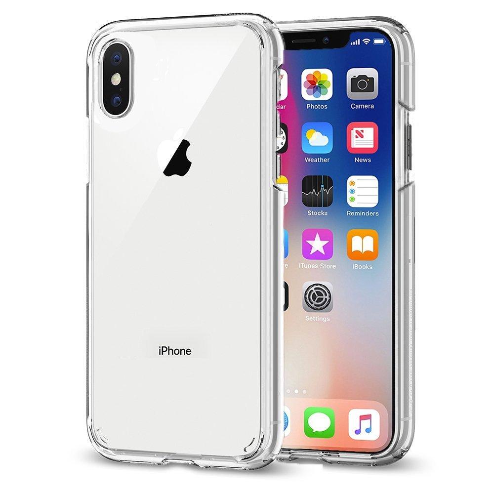 buy online 8a31f f74d2 iPhone X Case, AINATU iPhone 10 PC Case Camera Protection Anti-Scratch Hard  Plastic Tough Rugged Crystal Transparent Case for Apple iPhone X Case ...