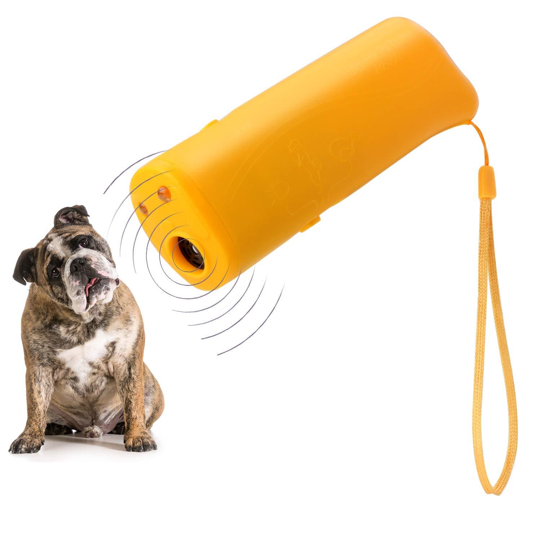 WIRSV 2er LED à ultrasons Répulsif pour Chien, 3 en 1 à ultrasons pour Animal Domestique Répulsif Anti aboiement Stop Barking Dog Training Contrôle Répulsif à Trainer ZHDL-OZ