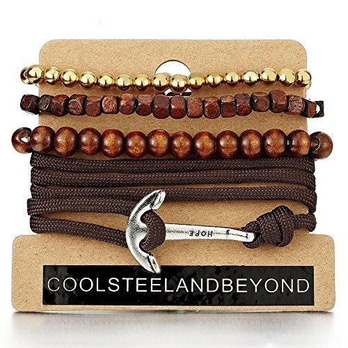 Anchor Bracelets Multi strand Cotton Wristbands