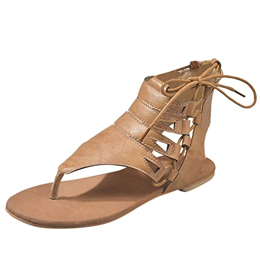 23973f95a261e Amazon.com: BOLUBILUY Gladiator Sandals for Women,Flat Bottomed ...