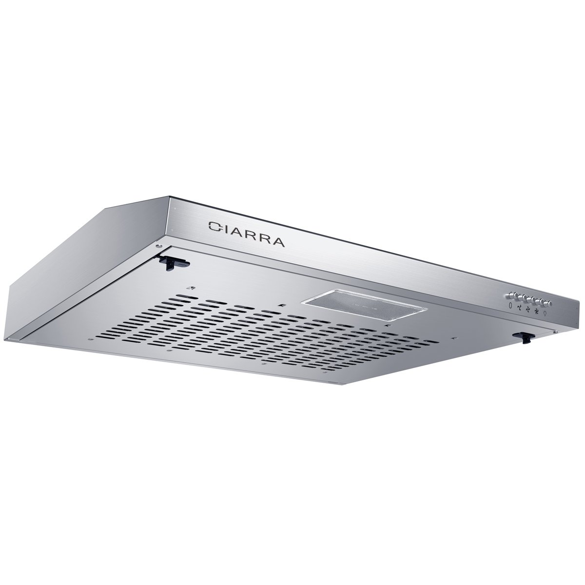 CIARRA 60cm Stainless Steel Visor Cooker Hood 600mm Wall Mounted Kitchen Extractor Fan [Energy Class D]