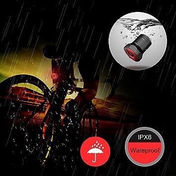 Luz Trasera de Bicicleta Inteligente, Recargable USB Super ...