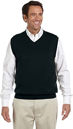 Devon \u0026 Jones Men\u0027s V,Neck Sweater Vest at Amazon Men\u0027s Clothing store Sweater  Vests