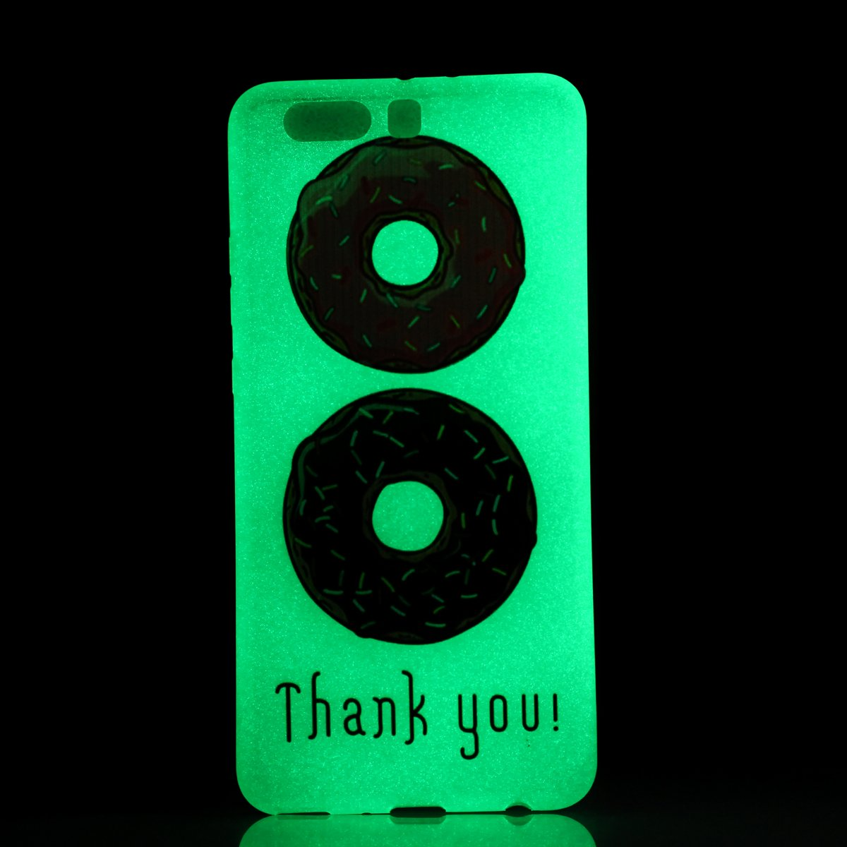 """Hülle Leuchtende Huawei P10 Plus(5.5"""") Silikon Etui Handy Hülle Weiche Transparente Luminous TPU Back Case Tasche Schale Leuchten In Der Nacht Für Huawei P10 Plus(5.5"""") + Schlüsselanhänger (P) (1) Lohpe"""