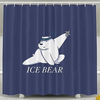 We Bare Bears Ice Bear Bathroom Shower Curtain 6072inch