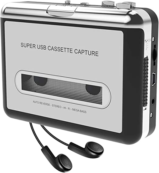 USB Cassette Player from Tapes to MP3 Digital Files for Laptop PC and Mac with Headphones from Tapes to Mp3 New Technology 2019 Updated Cassette to MP3 Converter