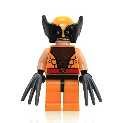 LEGO X-Men Marvel Super Heroes Wolverine Minifigure with Hair & Claws (76022): Toys & Games