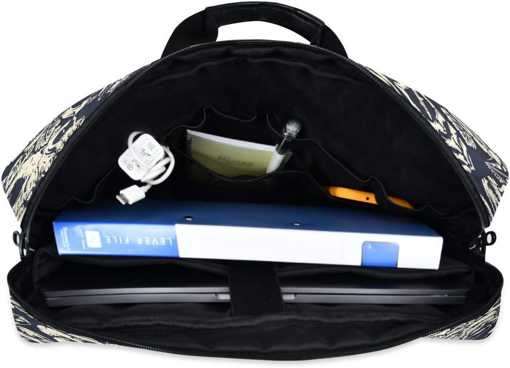 Great to Business Crown Rose Skull Cat 15.6 Inch Tote Bag Laptop Messenger Shoulder Bag Case Notebook Bag Laptop Bag Briefcase Shoulder Bag Work