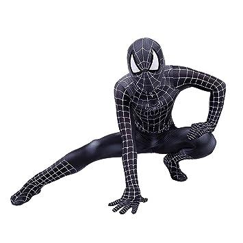 TOYSGAMES Traje Negro de Cosplay de Spiderman Medias elásticas del ...