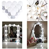 Upgraded Hollywood Style LED Vanity Mirror Lights Kit, Dimmable Mirror Light Bulbs, Makeup Light Strip for Dressing Table, Bathroom, Decorative Walls, CRI>90(4000K Natural White, 10 Bulbs)