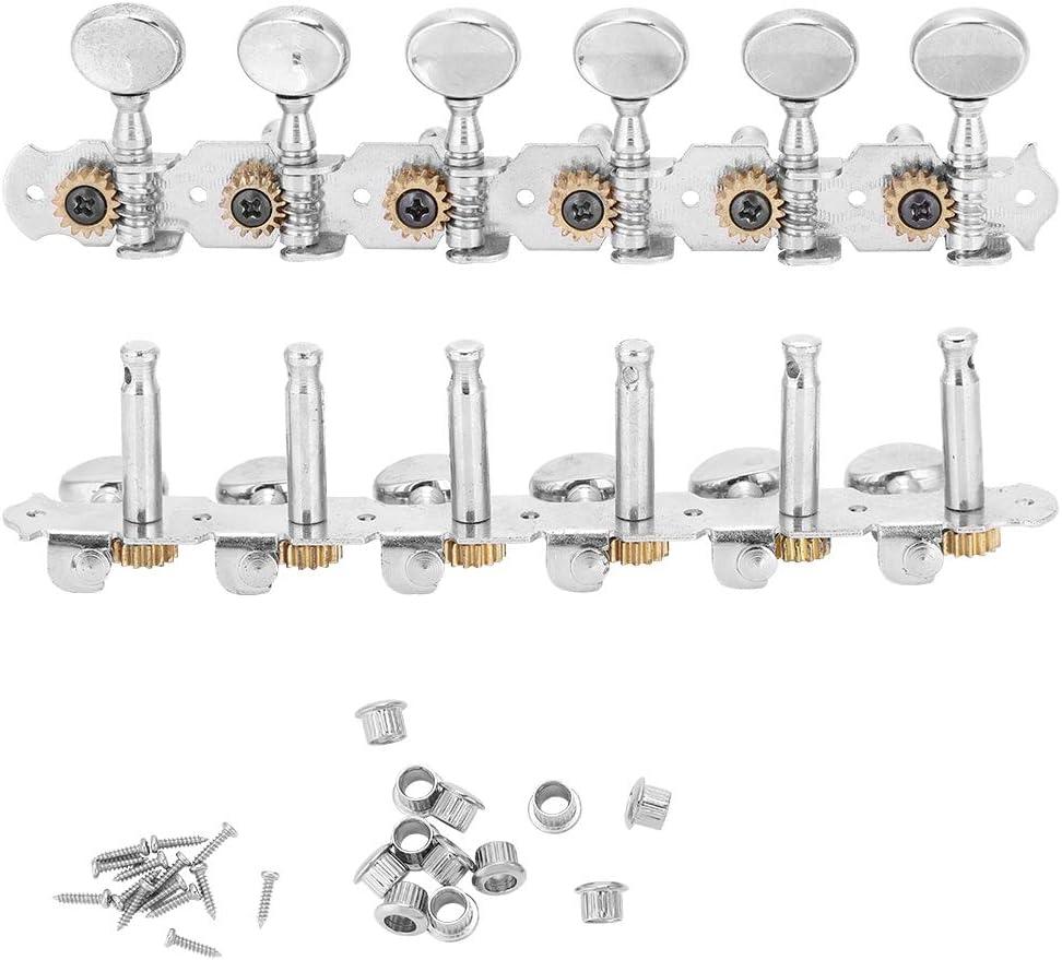 Dilwe Clavijas de Afinación de Guitarra, Aleación de Zinc Sintonizadores de Bloqueo Cabezales de Máquina Botón de Sintonización Accesorios para 12 Cuerdas Guitarra