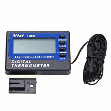 Termometro - VICI TM803 termometro digital de temperatura de refrigerador de congelador: Amazon.es: Bricolaje y herramientas