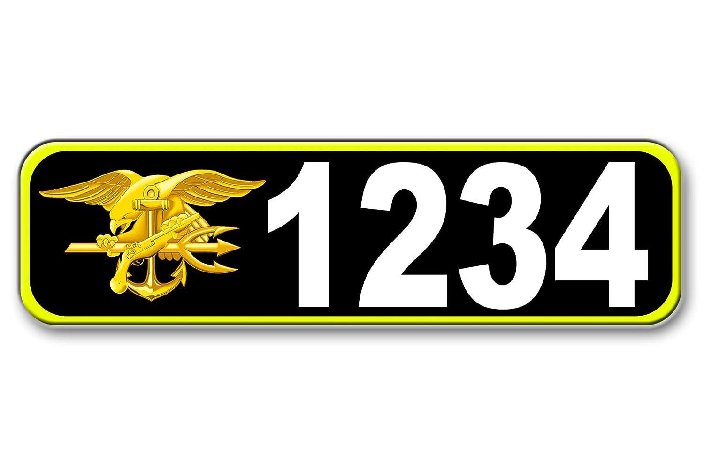 Navy Seal、縁石、メールボックス、家アドレスPlaque、反射 B00XFO0T8G