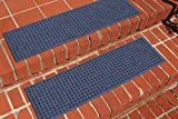 Waterguard Squares Stair Treads, Navy, Set of 4