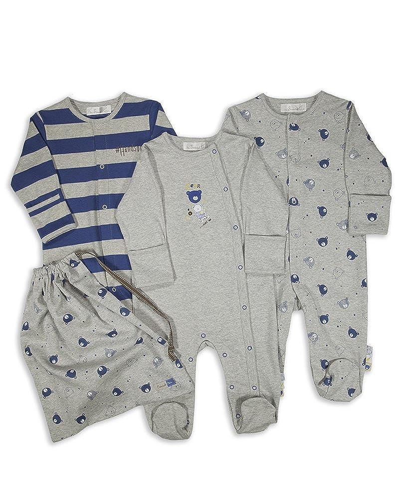 The Essential One - Pijama Pijamas para bebé niños - Paquete de 3 - ESS137