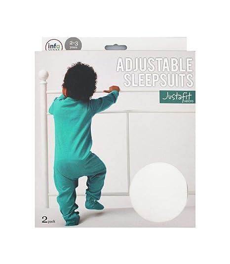 Justafit - Traje de dormir ajustable para bebé, color verde azulado, 2 unidades de